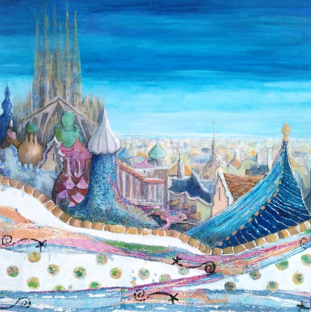 Painting of Barcelona After Gaudi