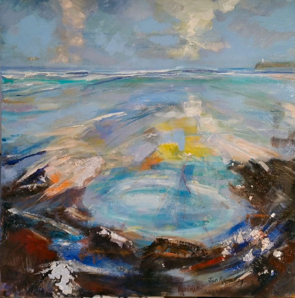 Painting of rockpool