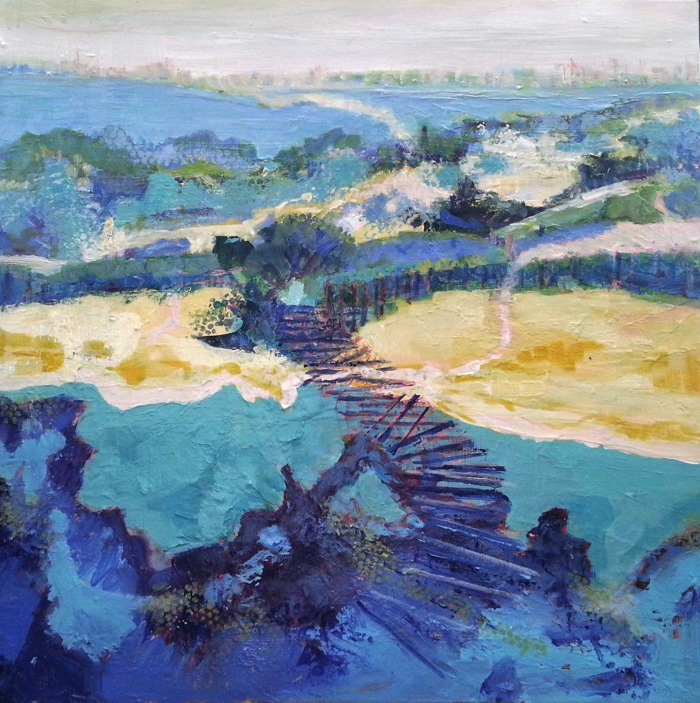 Painting of walkway Spain