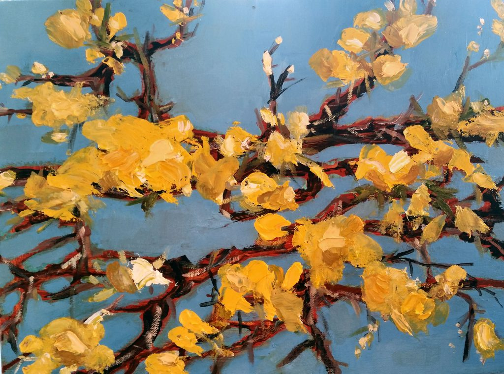 Painting of Gorse Bush