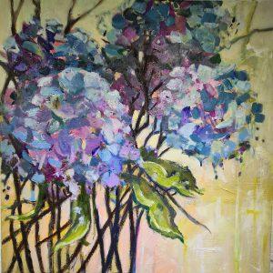 Painting of Hydrangea flowers