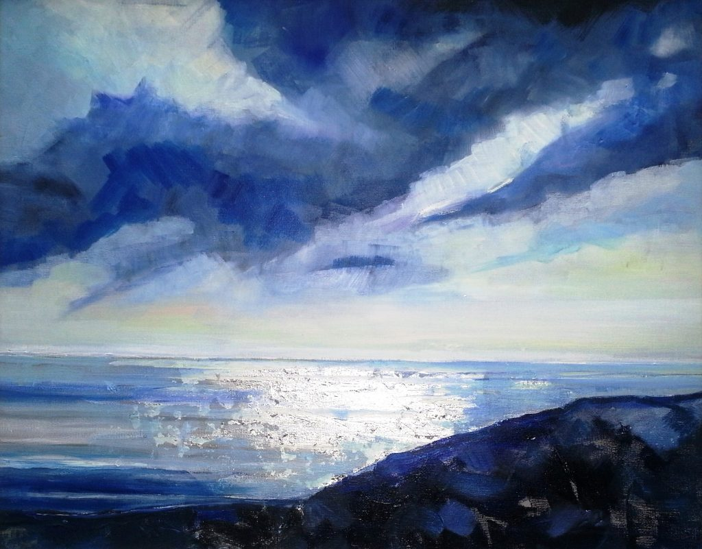 Painting of Morning Sea