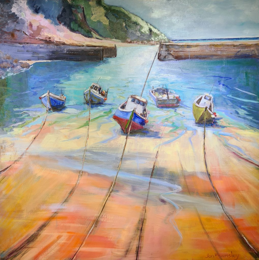 Painting of Port Issac in Cornwall