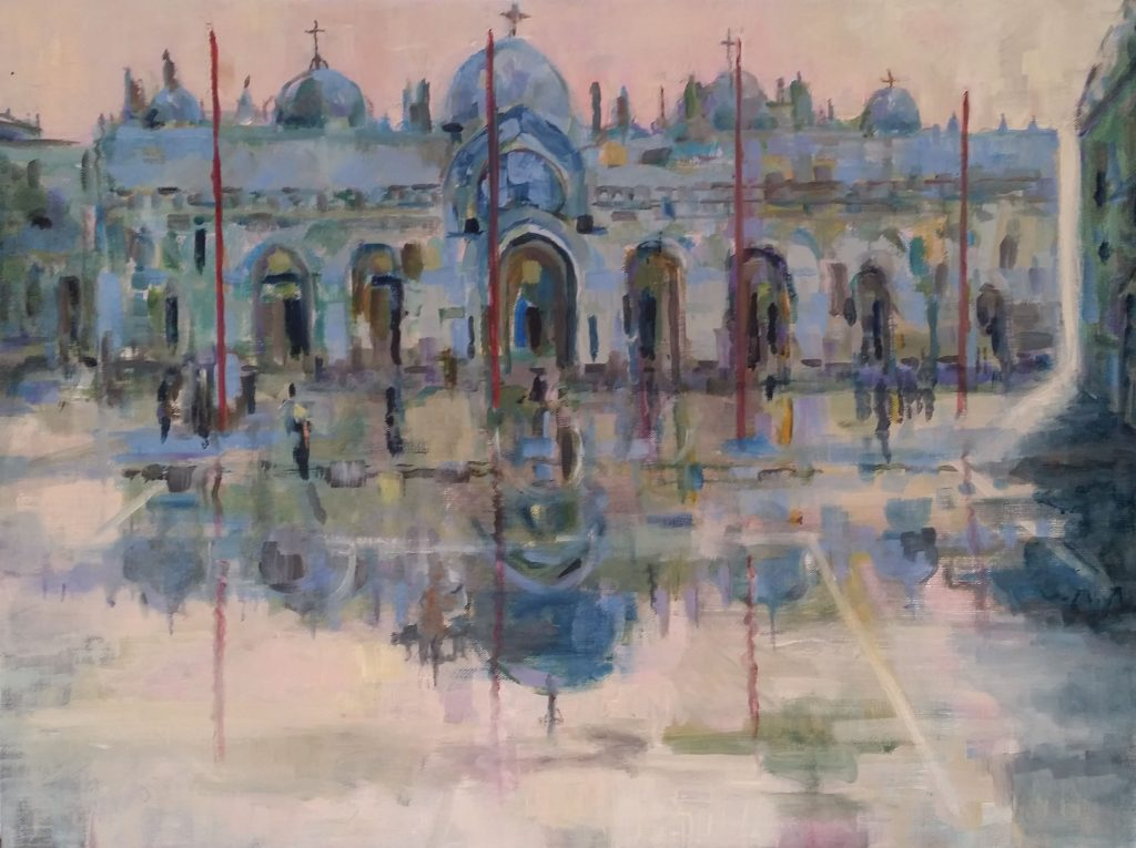 Painting of St Marks square Venice