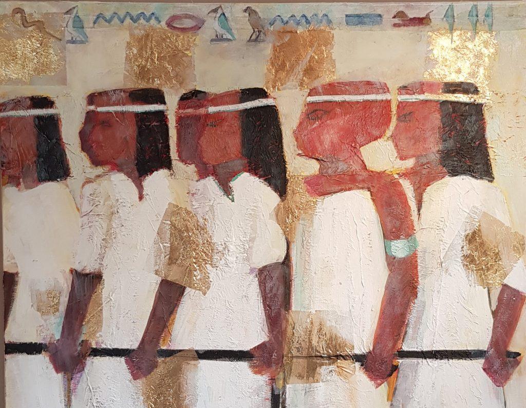 painting of Tutankhamun