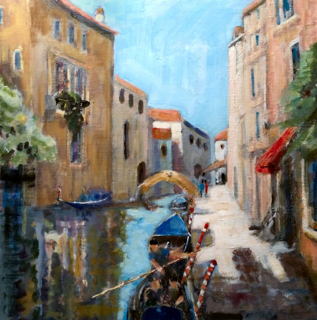 Painting of Venice canal