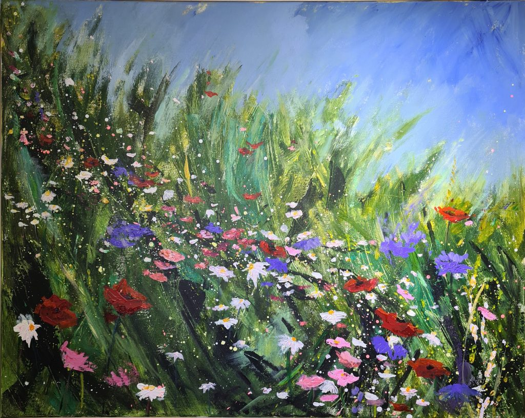 Painting of wild meadow