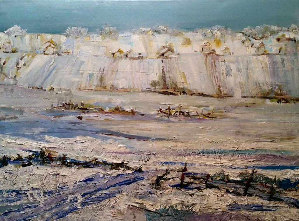 Painting of winter scene